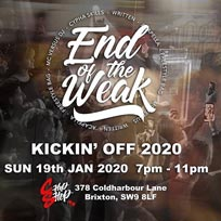 End of the Weak at Chip Shop BXTN on Sunday 19th January 2020