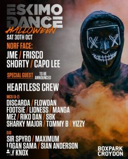 Eskimo Dance: Halloween at Boxpark Croydon on Saturday 30th October 2021