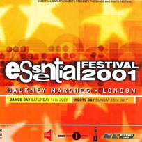 Essential Festival 2001 Sunday at Hackney Marshes on Sunday 15th July 2001