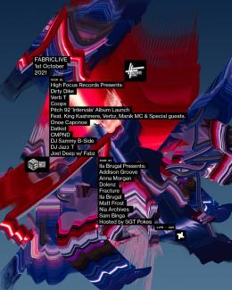 FABRICLIVE High Focus Takeover at Fabric on Friday 1st October 2021