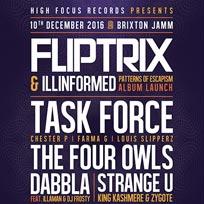 Fliptrix & Ill Informed at Brixton Jamm on Saturday 10th December 2016