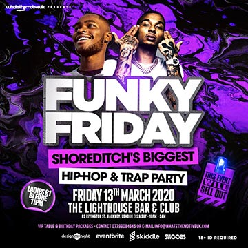 Funky Friday at The Lighthouse Bar and Club on Friday 13th March 2020