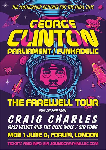 George Clinton at The Forum on Monday 1st June 2020