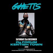 Ghetts at The Forum on Saturday 21st December 2019