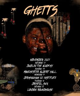 Ghetts at The Roundhouse on Saturday 20th November 2021
