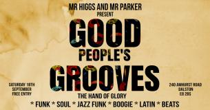 Good People's Grooves at Hand of Glory on Saturday 18th September 2021