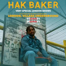 Hak Baker at Village Underground on Sunday 19th September 2021