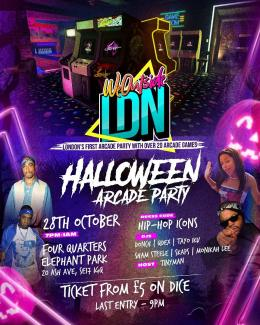 Halloween Arcade Party at Four Quarters Elephant Park on Wednesday 27th October 2021