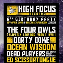 High Focus 6th Birthday at Electric Ballroom on Friday 15th April 2016