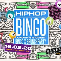 Hip Hop Bingo at Dabbers Social Bingo on Sunday 16th February 2020