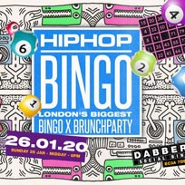 Hip Hop Bingo at Dabbers Social Bingo on Sunday 26th January 2020