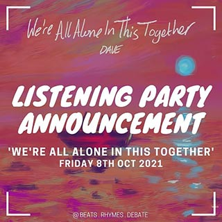 Hip-Hop Listening Party & Debate at Actors East on Friday 8th October 2021