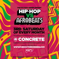 Hip-Hop vs Afrobeats at Concrete on Saturday 15th February 2020