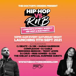 Hip-Hop vs RnB - The Return at Horse & Groom on Saturday 11th September 2021