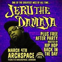 Jeru The Damaja at Archspace on Sunday 4th March 2018