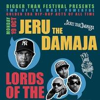 Jeru The Damaja + L.O.T.U.G at Jazz Cafe on Monday 19th October 2015