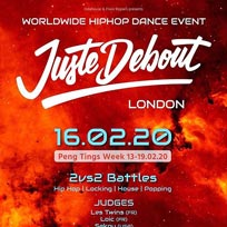 Juste Debout at Stratford Circus Arts Centre on Sunday 16th February 2020