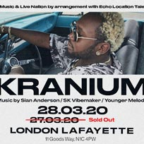 Kranium at Lafayette on Friday 27th March 2020