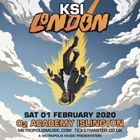 KSI at Islington Academy on Saturday 1st February 2020