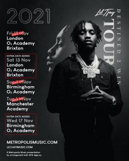 Lil Tjay at Brixton Academy on Friday 12th November 2021