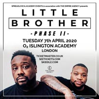 Little Brother at Islington Academy on Tuesday 7th April 2020