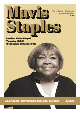 Mavis Staples at Union Chapel on Tuesday 15th June 2021