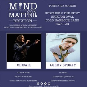 Mind Over Matter at The Ritzy on Tuesday 3rd March 2020