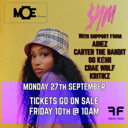 MOE Presents at The Ritzy on Monday 27th September 2021
