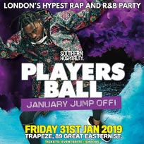 Players Ball at Trapeze on Friday 31st January 2020