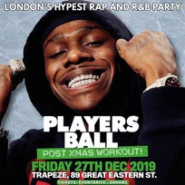 Players Ball at Trapeze on Friday 27th December 2019