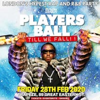 Players Ball at Trapeze on Friday 28th February 2020