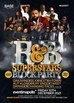 R&B Superstars Block Party at Hammersmith Apollo on Friday 10th December 2021