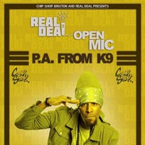 Real Deal Open Mic at Chip Shop BXTN on Thursday 30th January 2020