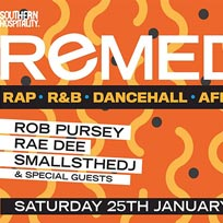 Remedy at Concrete on Saturday 25th January 2020