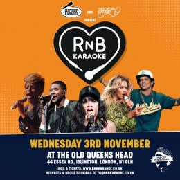 RnB Karaoke at The Old Queen's Head on Wednesday 3rd November 2021