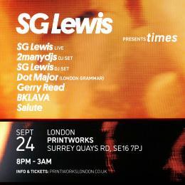 SG Lewis at Printworks on Friday 24th September 2021