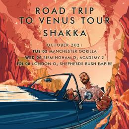 Shakka at Shepherd's Bush Empire on Friday 8th October 2021