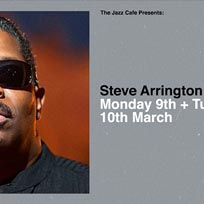 Steve Arrington at Jazz Cafe on Monday 9th March 2020