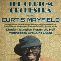 The Curtom Orchestra at Islington Assembly Hall on Wednesday 3rd June 2020