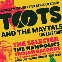 Toots & The Maytals  at Brixton Academy on Saturday 16th May 2020