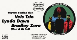 Vels Trio, Lynda Dawn & Bradley Zero (Early Show) at Jazz Cafe on Thursday 8th July 2021
