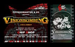 VisionBombing Live & Direct at Chip Shop BXTN on Saturday 1st August 2020