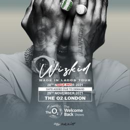 Wizkid at The o2 on Monday 29th November 2021