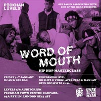 Word of Mouth at Peckham Levels on Friday 31st January 2020