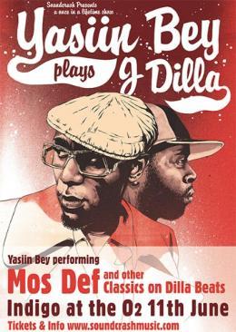 Yasiin Bey plays J DILLA at Indigo2 on Thursday 11th June 2015