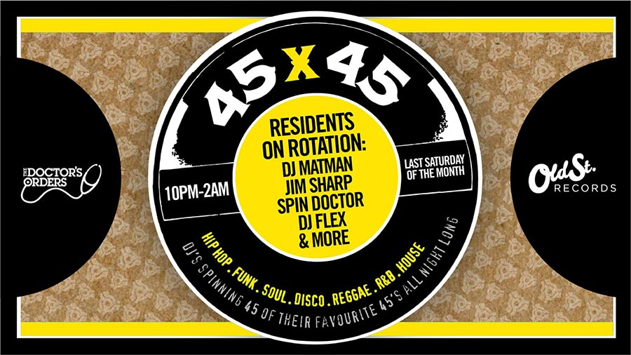 45 x 45s at Old Street Records on Sat 25th January 2020 Flyer