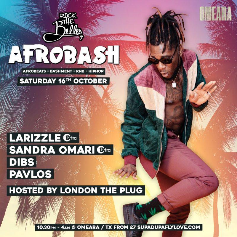 Afrobash at Omeara on Sat 16th October 2021 Flyer