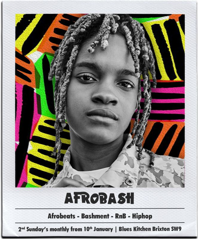 Afrobash at The Blues Kitchen Brixton on Sun 24th January 2021 Flyer