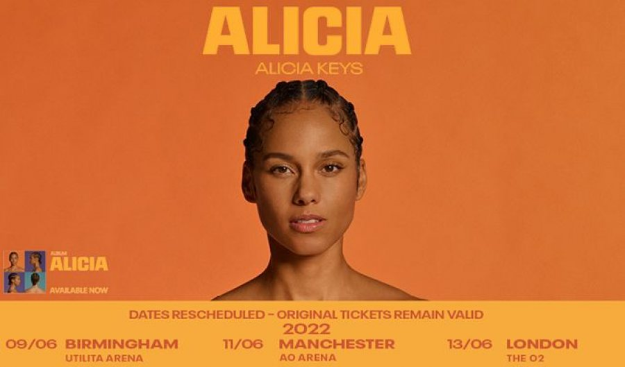 Alicia Keys at The o2 on Mon 13th June 2022 Flyer