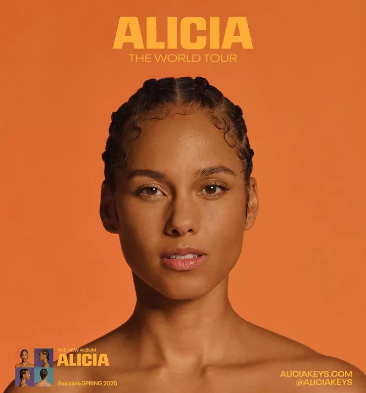 Alicia Keys at The o2 on Wed 10th June 2020 Flyer
